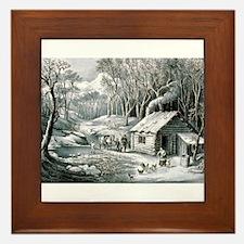 Home in the wilderness - 1870 Framed Tile