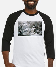 Home in the wilderness - 1870 Baseball Tee