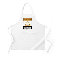 Warning! Entering Loud Bagpip BBQ Apron