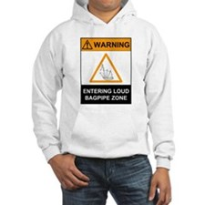 Warning! Entering Loud Bagpip Hoodie