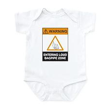 Warning! Entering Loud Bagpip Infant Bodysuit