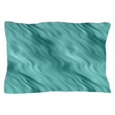 Teal Wavy Pattern Pillow Case