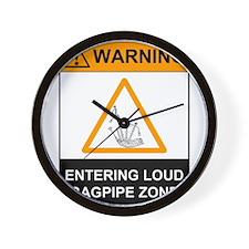 Warning! Entering Loud Bagpip Wall Clock