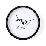 Arabic Calligraphy Wall Clock