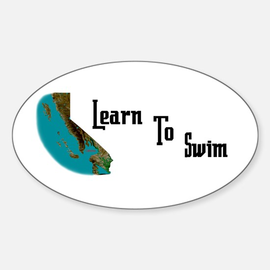 Learn to Swim Oval Decal