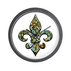 New Orleans Rocks Fleur Wall Clock