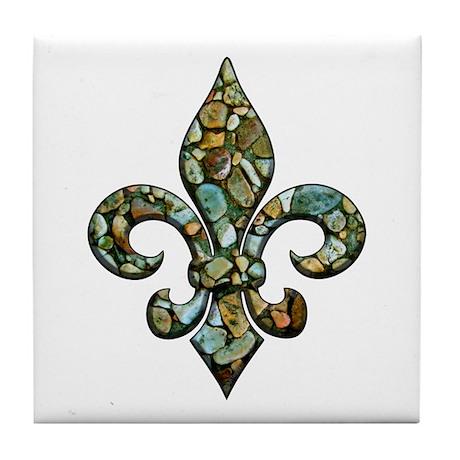 New Orleans Rocks Fleur Tile Coaster
