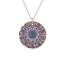 Ek Onkar Mandala Necklace Circle Charm