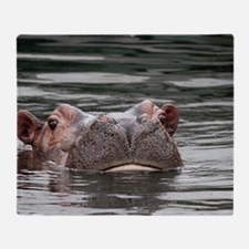Hippo 001 Throw Blanket