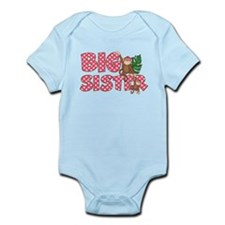 Big Sister Monkey Pink Body Suit