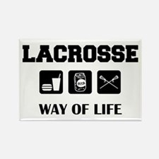 Eat Drink Beer Play Lacrosse Rectangle Magnet