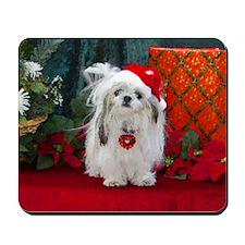 Shih Tzu Christmas Santa Peaches Mousepad