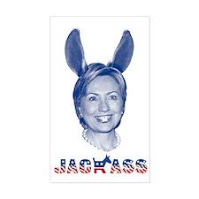 """Jackass Hillary Clinton"" Rectangle Decal"
