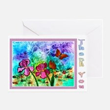 One Pink Iris Pastel Thank You Card - 3 Sizes
