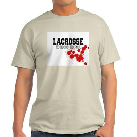 No Blood No Foul Lacrosse Ash Grey T-Shirt