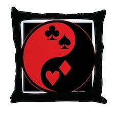 Yin Yang Cards Throw Pillow