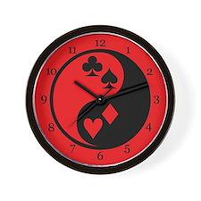 Yin Yang Cards Wall Clock