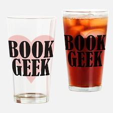 Book Geek Drinking Glass