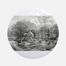 Early winter - 1869 Round Ornament
