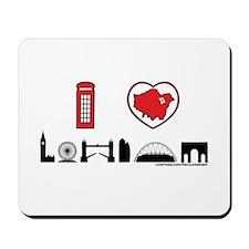 I Love London Mousepad
