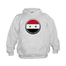 Round Syrian Arab Republic Flag Kid's Hoodie
