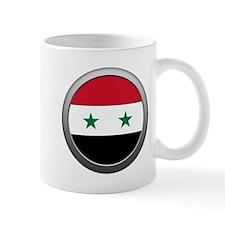 Round Syrian Arab Republic Flag Mug
