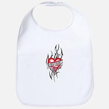Harley Dog Tag Heart Tribal Bib