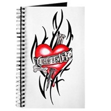 Harley Dog Tag Heart Tribal Journal