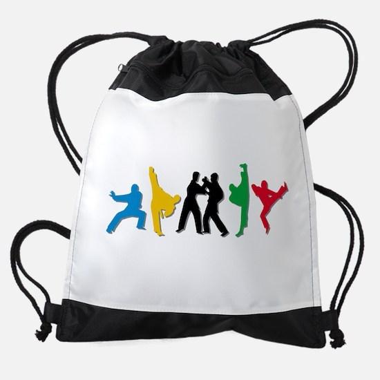 Tae Kwon Do Kicks Drawstring Bag