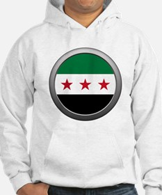 Round Syrian National Coalition Flag Hoodie