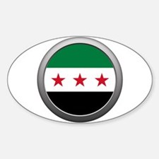 Round Syrian National Coalition Flag Oval Decal