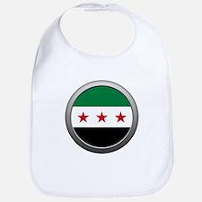 Round Syrian National Coalition Flag Bib
