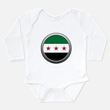 Round Syrian National Coalition Flag Long Sleeve I