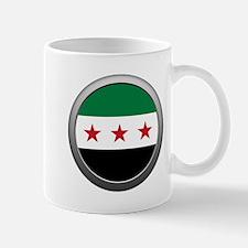 Round Syrian National Coalition Flag Mug