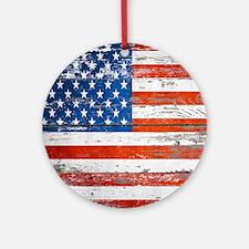 Unique United states Round Ornament
