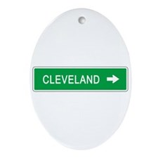 Roadmarker Cleveland (OH) Oval Ornament