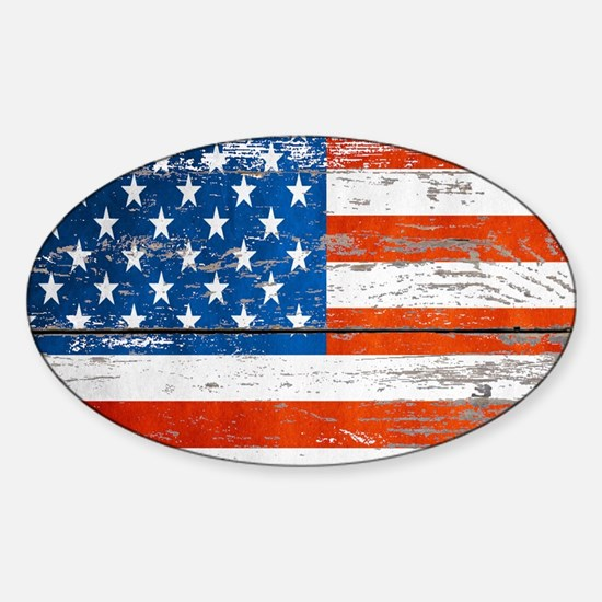 Unique America in distress Sticker (Oval)