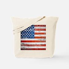 Unique Vintage american flag Tote Bag