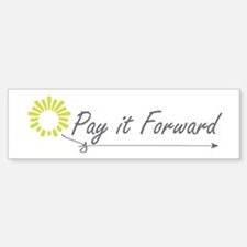 Pay It Forward Bumper Car Car Sticker