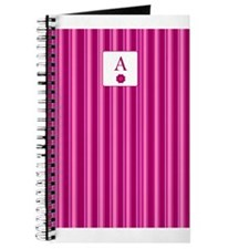 """A"" Initial/Monograms Pink Journal"