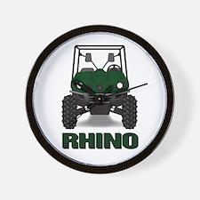 Rhino Green Wall Clock