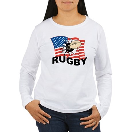 Usa Rugby Women 39 S Long Sleeve T Shirt Usa Rugby T Shirt