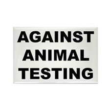 Against Animal Testing Rectangle Magnet