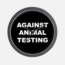 Against Animal Testing Wall Clock