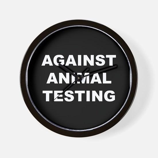 Against Animal Testing Wall Clock