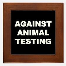 Against Animal Testing Framed Tile