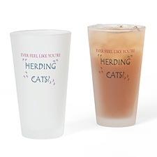 Herding Cats Drinking Glass