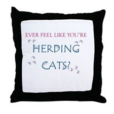 Herding Cats Throw Pillow