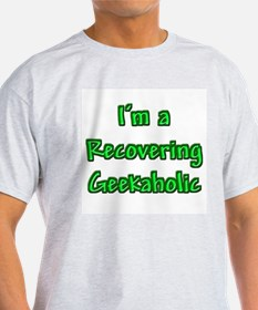 Recovering Geekaholic Ash Grey T-Shirt