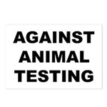 Against Animal Testing Postcards (Package of 8)